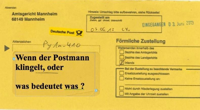 Der Gelbe Brief Hilfe